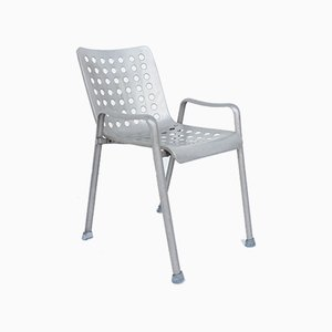 Swiss Aluminium Outdoor Stackable Landi Chair by Hans Coray, 1938