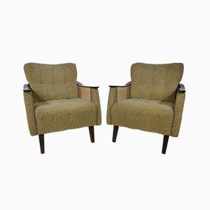Mid-Century Sessel aus Korbgeflecht, 1960er, 2er Set