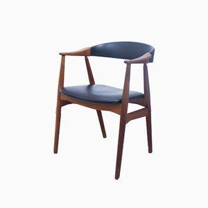 Silla de escritorio danesa de teca de Farstrup, años 60