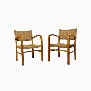 Cord Armchairs from Vroom and Dreesman, 1960s, Set of 2
