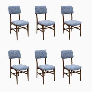 Italienische Teak Esszimmerstühle von Edmondo Palutari für Dassi, 1950er, 6er Set