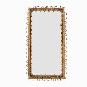 Italian Rectangular Bamboo Mirror by Franco Albini, 1950s