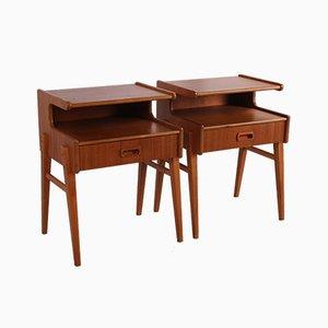 Vintage Danish Bedside Tables, Set of 2