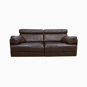 Leather DS 77 Modular Sofa from de Sede, 1970s, Set of 2