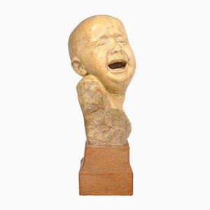 Terracotta Child Sculpture by Alimondo Ciampi