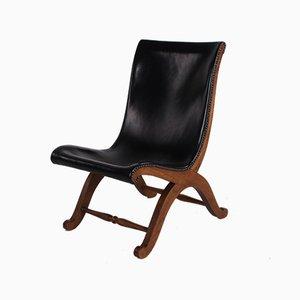 Vintage Slipper Chair by Pierre Lottier for Valenti