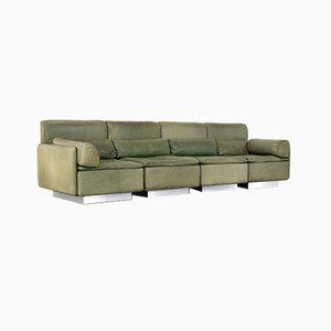 Canapé à 4 Places Hollywood Vert Olive par Walter Knoll pour Knoll, 1972