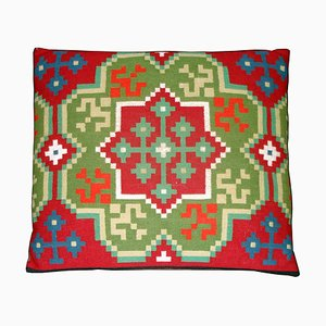 Swedish Hand-Woven Rollakan Pillow, 19th Century