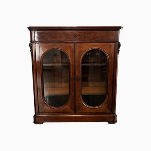 Mahogany Plated Showcase Cabinet, Late 1800s