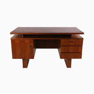Danish Teak Writing Desk with 3 Drawers