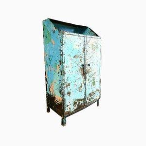 Industrial Blue & Green 2-Door Cabinet