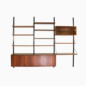 Danish Modular Teak Wall Unit by Poul Cadovius, 1960s, Set of 10