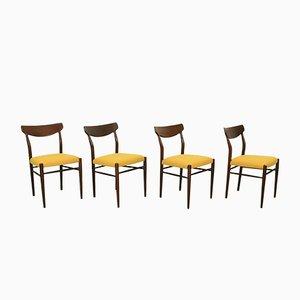 Teak Esszimmerstühle von Harry Ostergaard für Randers Møbelfabrik, 1950er, 4er Set