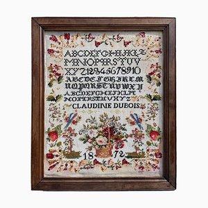 Alfabeto incorniciato a punto croce, 1872