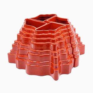 Modulare Collina Vase aus Keramik von Sergio Asti für Gabbianelli, 1960er