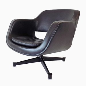 Black Leather Chair by Eero Aarnio for Asko Oy