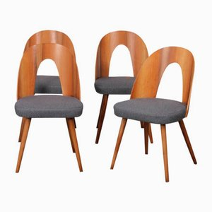 Walnut Chairs by Antonin Suman, 1960s, Set of 4