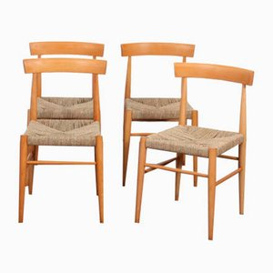 Wooden Chairs from Uluv, 1960s, Set of 4