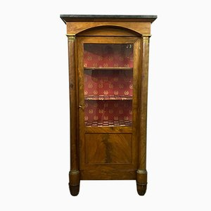 Empire Flamed Mahogany Bookcase / Showcase Cabinet, Early 1900s