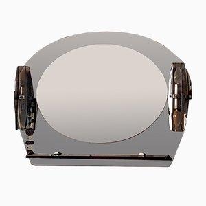 Mid-Century Italian Modern Mirror with Lamps, 1970s