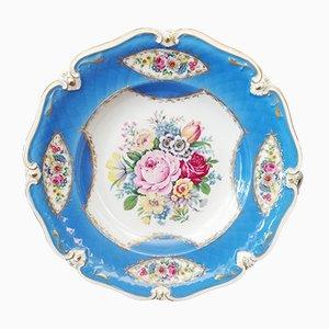 Plato bávaro vintage de porcelana decorado a mano de Eschenbach