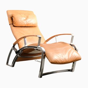 Vintage German IP 84 S Lounge Chair by F.A. Porsche for Interprofil, 1980s
