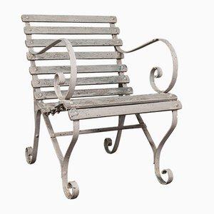 Englischer Antiker Englischer Gartensitz aus Schmiedeeisen