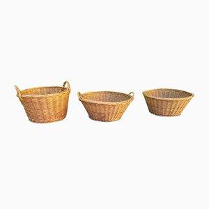 Bohemian Style Wicker Baskets, Set of 3