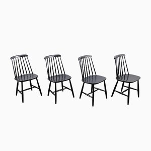 Vintage Dining Chairs by Ilmari Tapiovaara, Set of 4