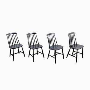 Vintage Dining Chairs by Ilmari Tapiovaara, Set of 4