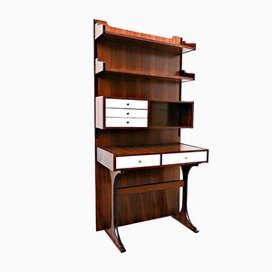 Italian Wall-Unit with Desk Attributed to Sormani for Luigi Sormani, 1960s