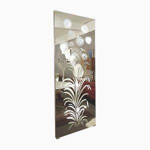 Italian Illuminated Coat Rack Mirror