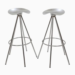 Chrome & Aluminum Jamaica Stools by Pepe Cortés for Amat-3, 1990s, Set of 10