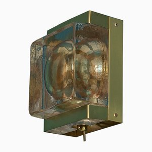 Danish Gold Colored Maritime Wall Lamp by Dynamic for Vitrika, 1960s