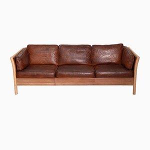 Sofá de tres plazas danés de Mogens Hansen, años 70