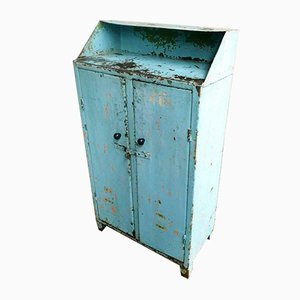 Industrial Light Blue Cabinet