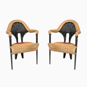 Wicker Chairs by Borek Sipek for Driade, Set of 4