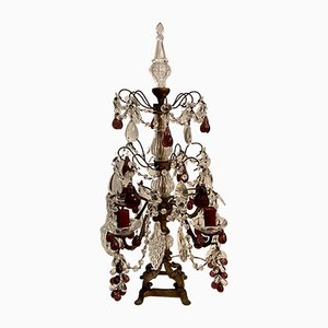 Vintage Murano Glass Fruit Candelabra Table Lamp