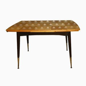 Extendable & Height-Adjustable Checkerboard Table, 1960s