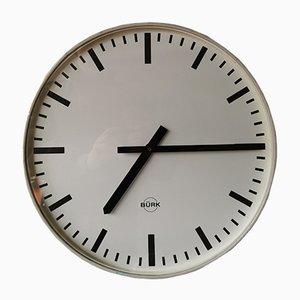Horloge Murale Industrielle de Bürk, 1950s