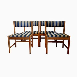 Oak 575 Dining Chairs by Borge Mogensen for Karl Andersson & Söner, 1960s, Set of 4