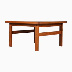 Solid Teak Coffee Table by Niels Bach, 1970s