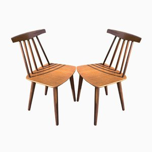 Model 3705 Dining Chairs by Poul Volther for Frem Røjle, Set of 2