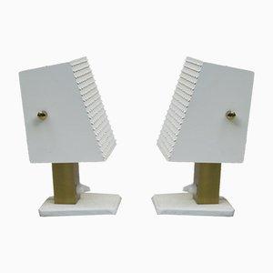 Kleine Kubistische Tischlampen von Hillebrand, 1960er, 2er Set