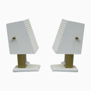 Small Cubist Table Lamps from Hillebrand, 1960s, Set of 2