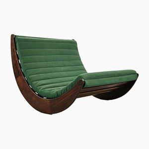 Deutscher Vintage Tandem Relaxer 2-Sitzer Schaukelstuhl von Verner Panton für Rosenthal