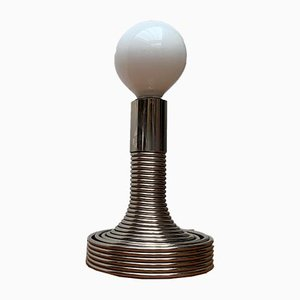 Italian Space Age Spiral Table Lamp by Angelo Mangiarotti for Candle