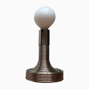 Spiralförmige Italienische Space Age Tischlampe von Angelo Mangiarotti für Candle