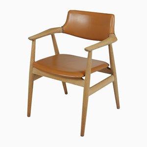 Chaise de Bureau Mid-Century en Chêne par Erik Kirkegaard