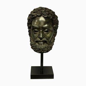 Englischer Kopf aus Bronze von Zeus, 1950er